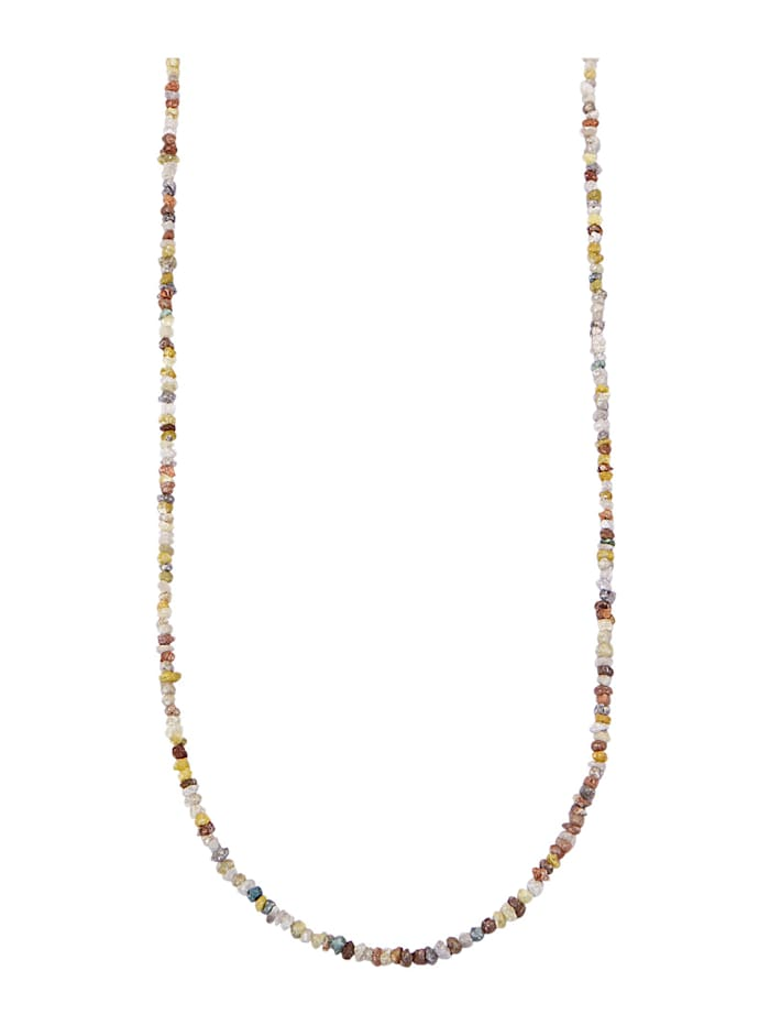 Image of Rohdiamant-Kette Amara Atelier Multicolor