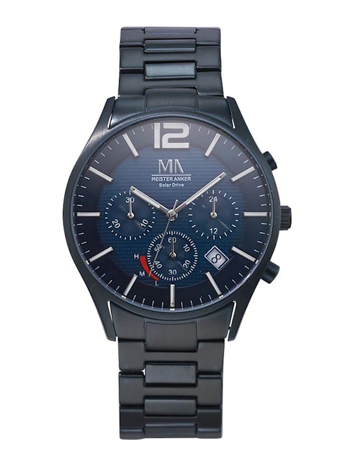 meister anker - Herren-Solar-Chronograph  Blau