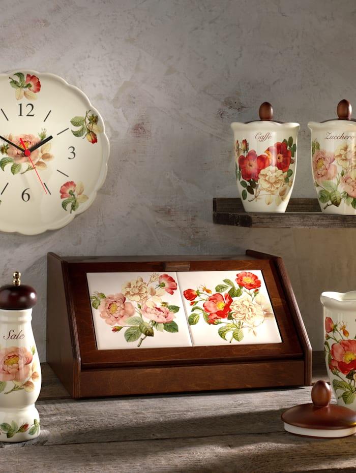 Nostalgischer Brotkasten 'Orto d´Autunno' Nuova Ceramica Artisan mehrfarbig