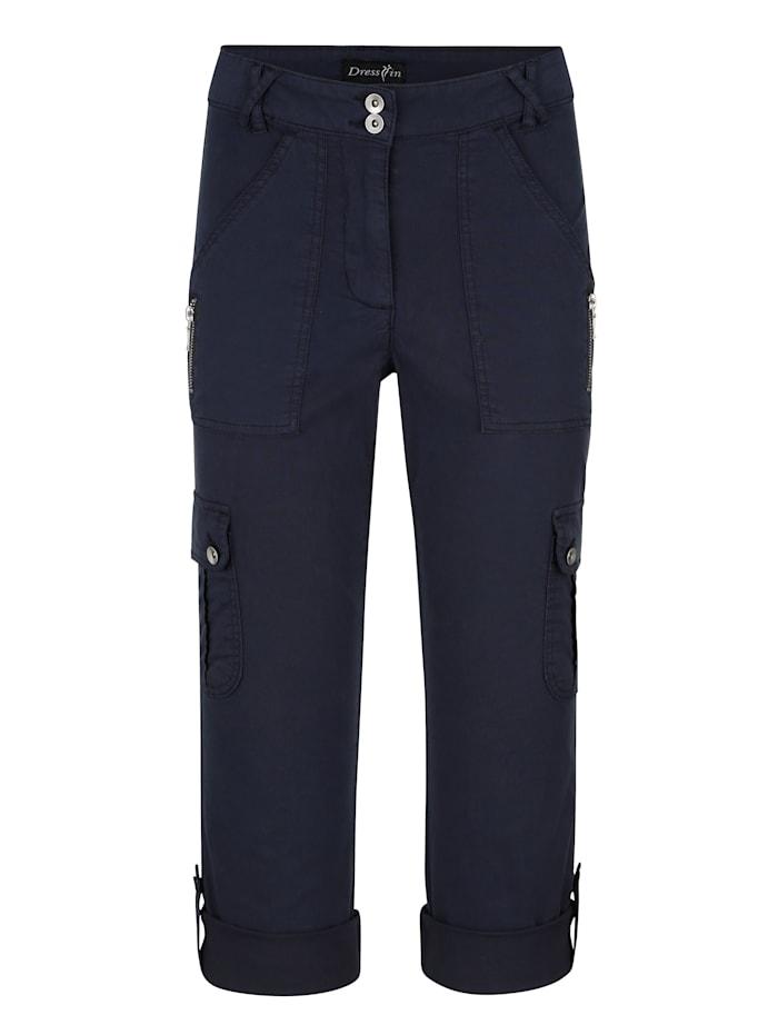 dress in - Cargohose  Marineblau