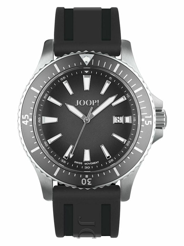 joop! - Quarzuhr für Herren, Edelstahl, Kautschukband schwarz  Schwarz