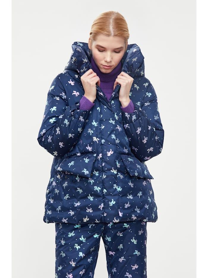 finn flare - Jacke mit farbigem Allover-Druck  dark blue
