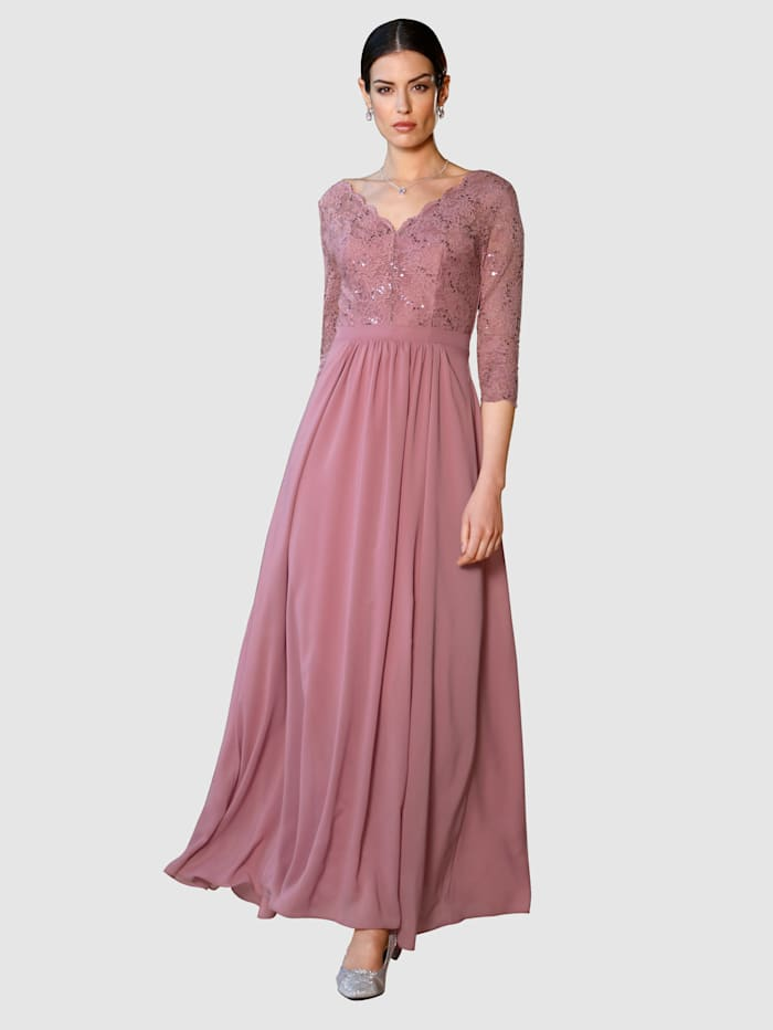 Abendkleid Paola Rosé
