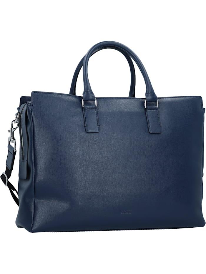 bree - Chicago 5 Aktentasche Leder 40 cm Laptopfach  dark blue