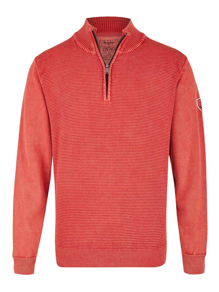 Washer-Pullover Hajo rot