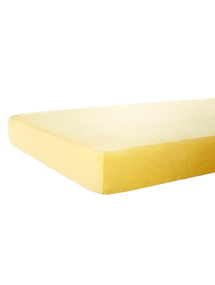 Nicki Spannbettlaken Webschatz gelb