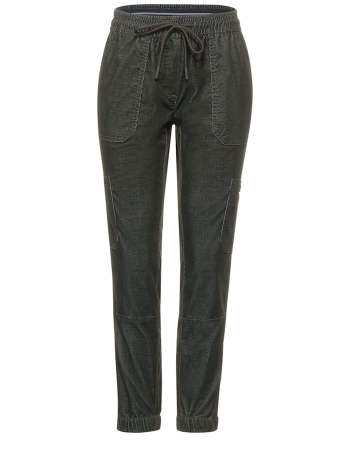 cecil - Loose Fit Hose in Inch 28  deep pine green