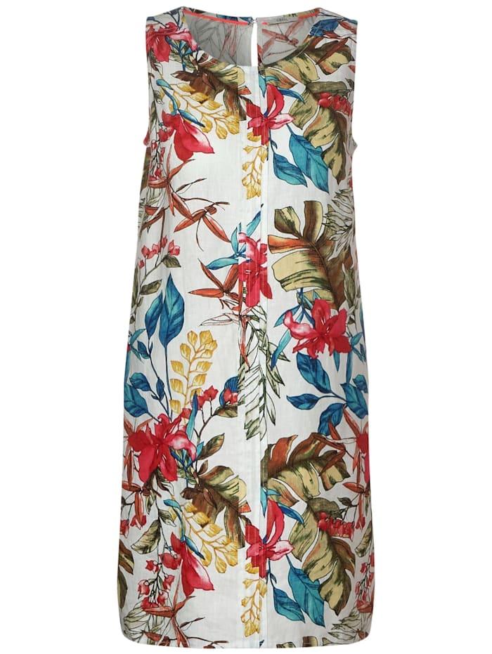 cecil - Leinen-Kleid mit Blumen  White