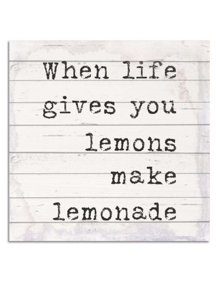 Holzbild, Lemons, IMPRESSIONEN living