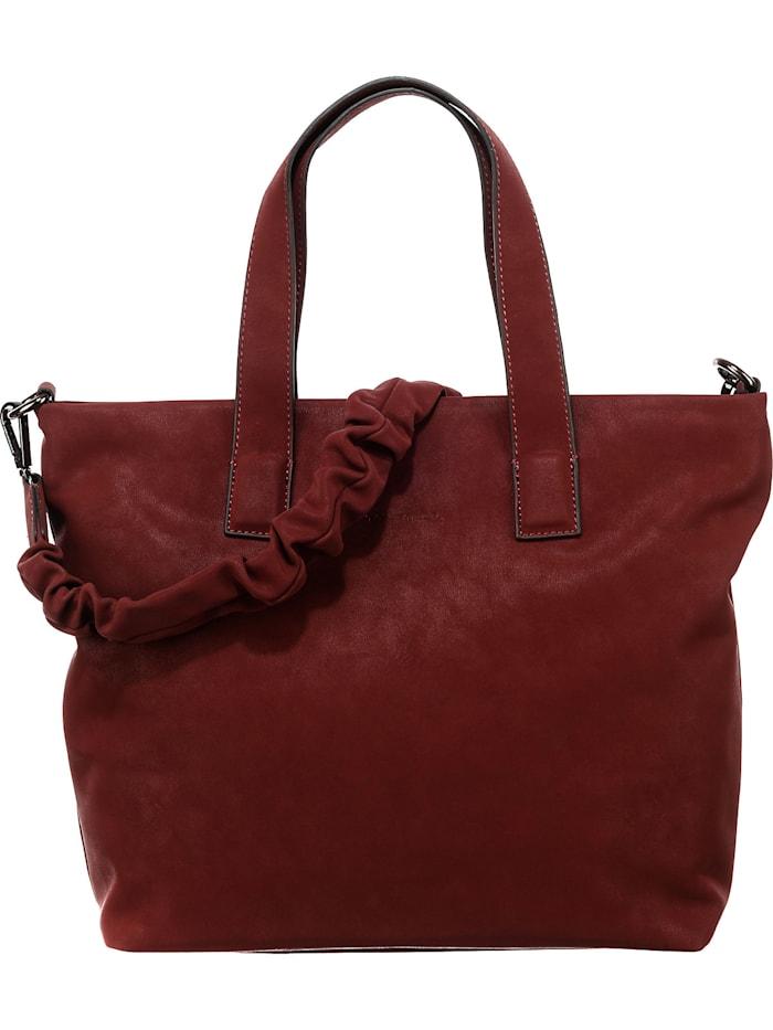 tom tailor - Antonella Zip Shopper M Shopper  braun/rot