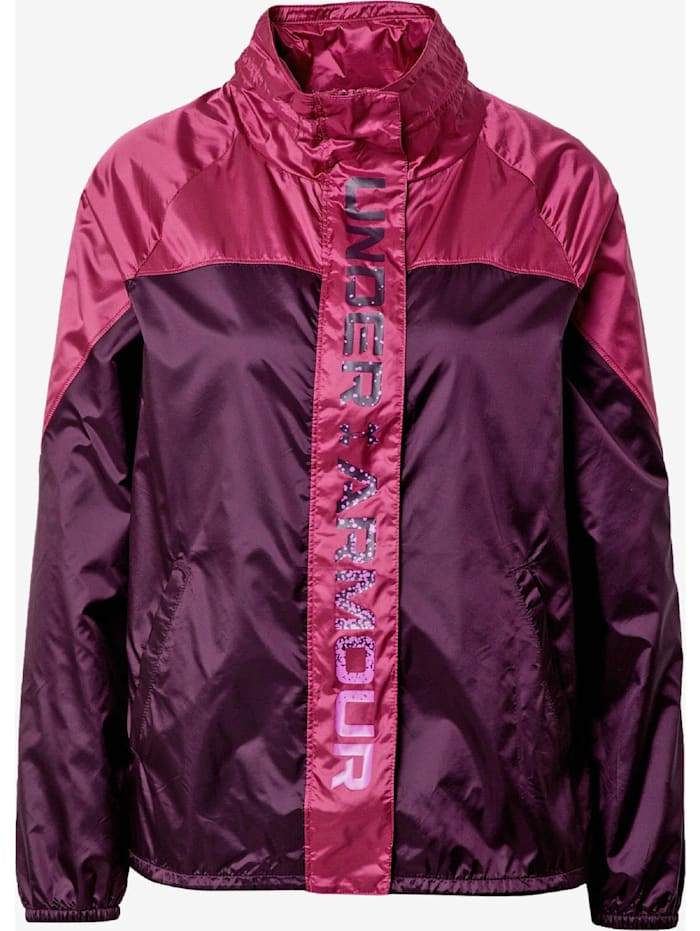 under armour -  Jacke Recover Woven Shine FZ  Pink