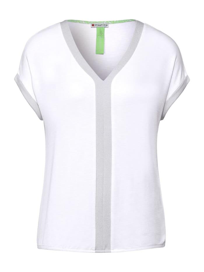 street one - T-Shirt mit Schimmerdetails  White