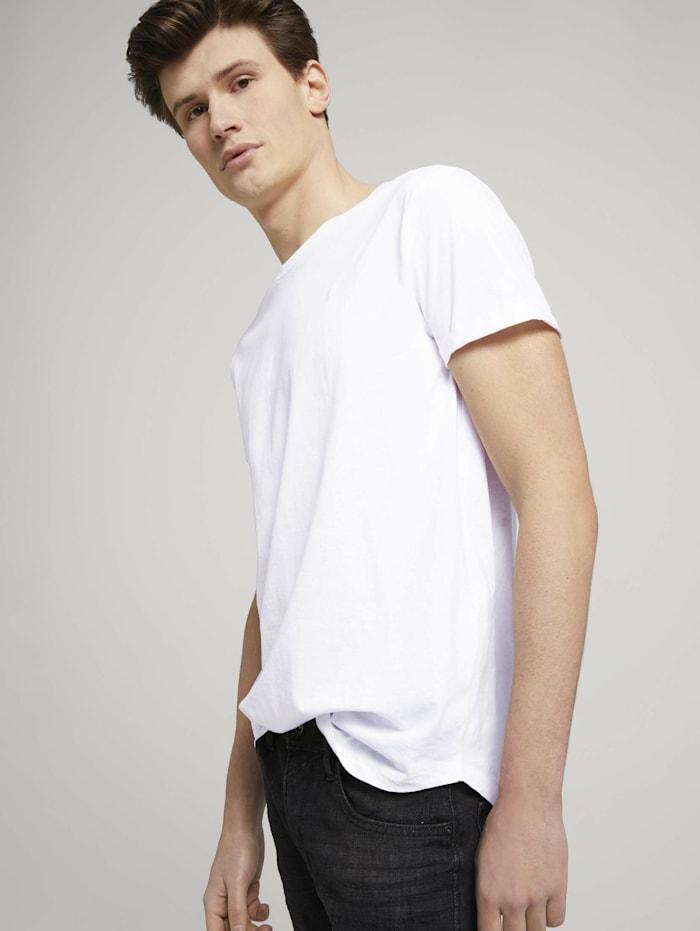 Image of Siebenerpack Basic T-Shirts Tom Tailor Denim White