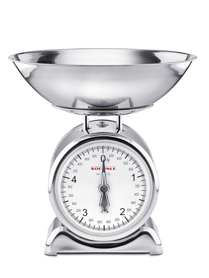 Keukenweegschaal Soehnle zilverkleur