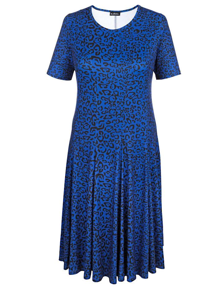 Image of Jerseykleid m. collection Royalblau::Schwarz