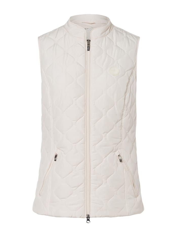 Steppweste aus recyceltem Polyester aus PET-Flaschen Olsen Ivory