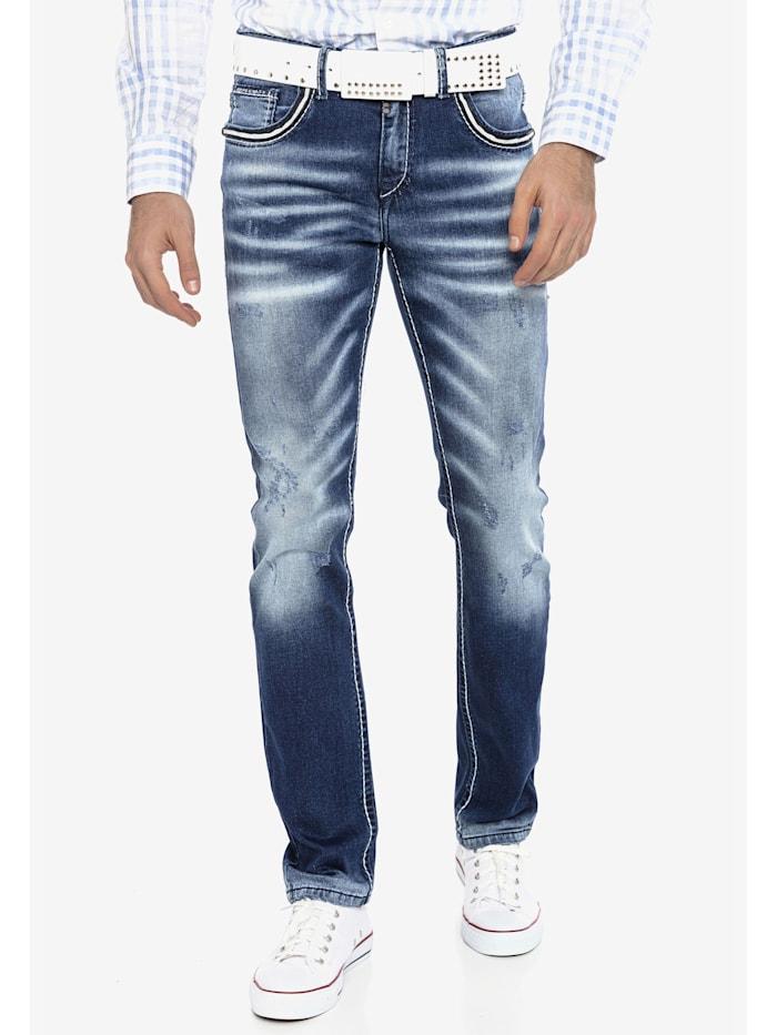 cipo & baxx - Jeans mit Gürtel mit passendem Gürtel  BLUE