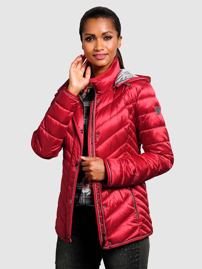 Alba moda Gewatteerde jas  Rood