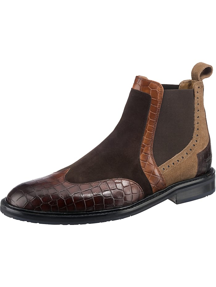 melvin & hamilton - Logan 2 Chelsea Boots  braun-kombi