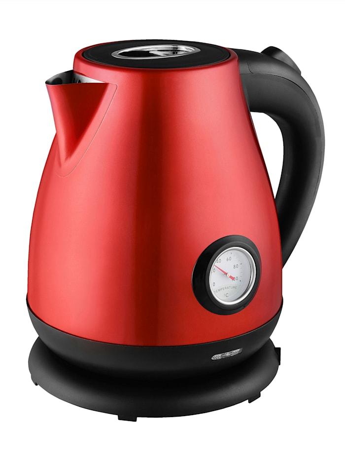 Wasserkocher mit 2200 Watt Kalorik Metallic Rot