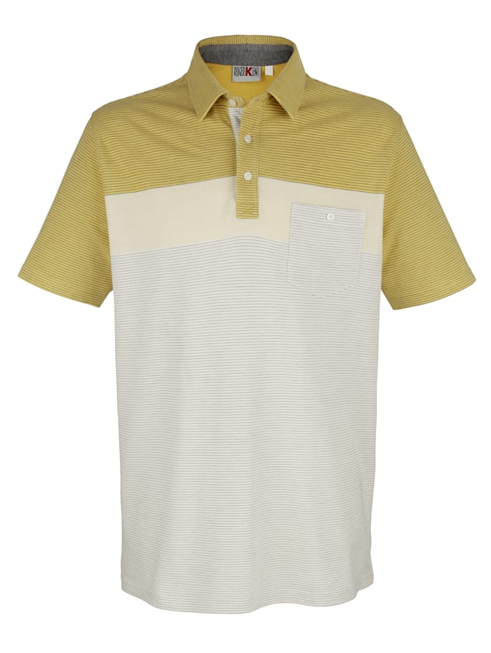Poloshirt Roger Kent Limoengroen::Wit