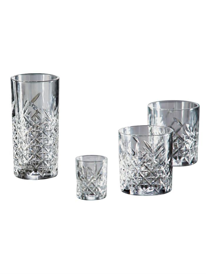 12-delige set glazen Timeless Van Well kleurloos