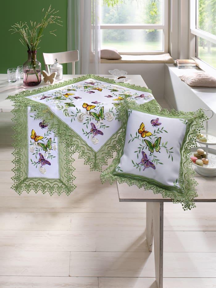 Tafellinnen Mariposa Webschatz wit/multicolor