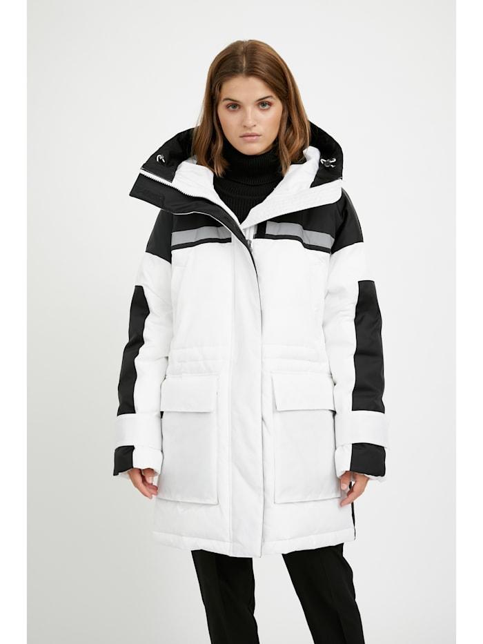 finn flare - Wintermantel mit aufgesetzten Taschen  white