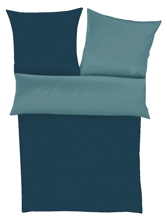 Parure de lit 2 pièces en percale bugatti Ibena Pétrole/turquoise