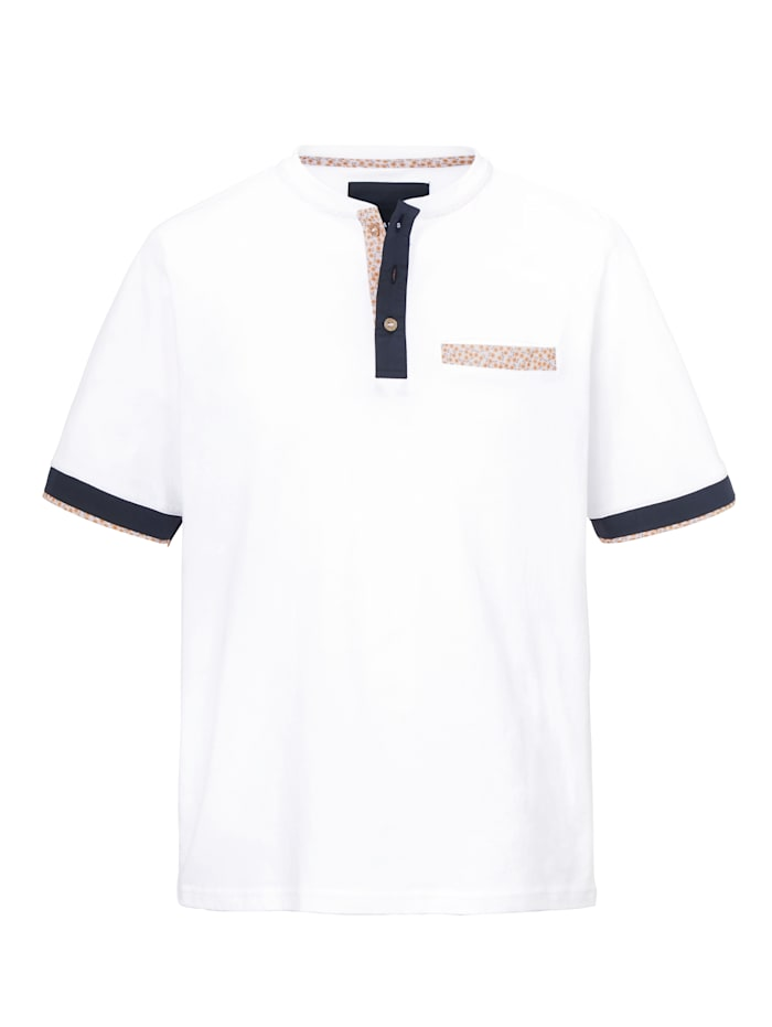T-shirt col tunisien BABISTA Blanc