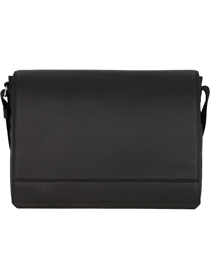 bree - Aiko 2 Messenger Leder 38 cm Laptopfach  black
