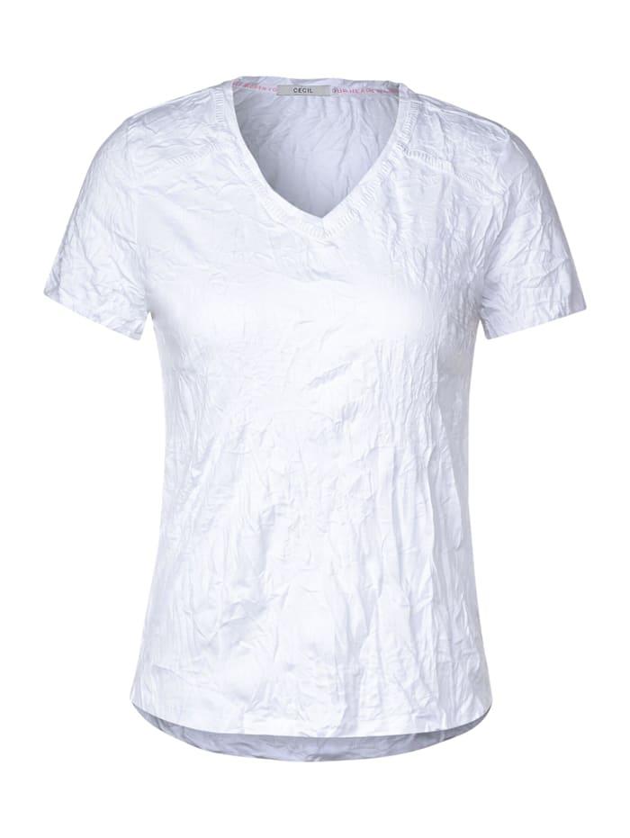cecil - T-Shirt mit Crash-Effekt  White