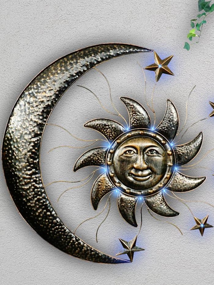 Solarwanddeko 'Sonne & Mond' Schwartinsky metall