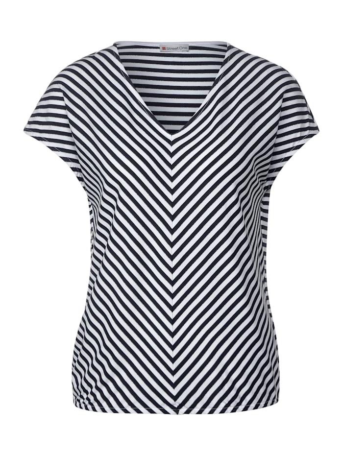 street one - T-Shirt mit Glitzer-Streifen  deep blue