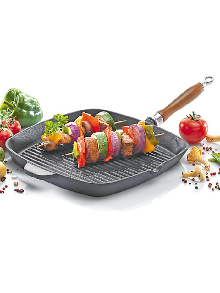 Steakpfanne aus Eisenguss Rustica 28x28 cm Krüger schwarz