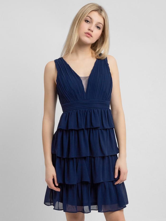 apart - Abendkleid mit Volants im Rockpart  blau