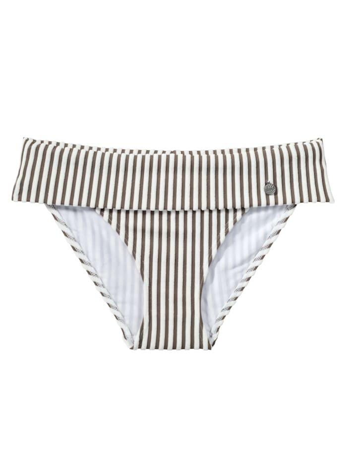 Bikini-Slip, Beachlife weiß-braun Deal 3656