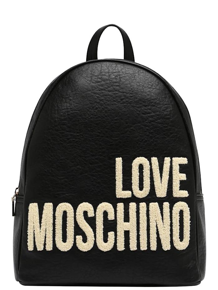 love moschino - Rucksack mit Kontrast-Applikationen  schwarz