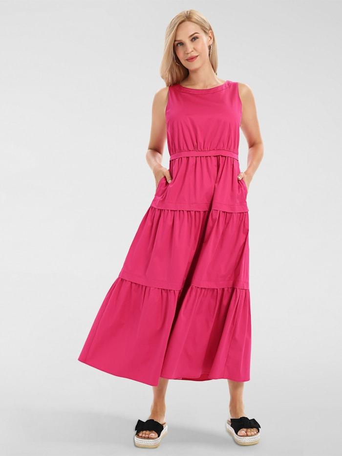 apart - Sommerkleid aus Baumwoll-Satin  pink