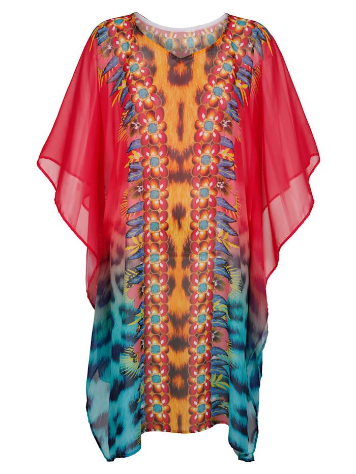 Strandkaftan Sunflair rood/multicolor