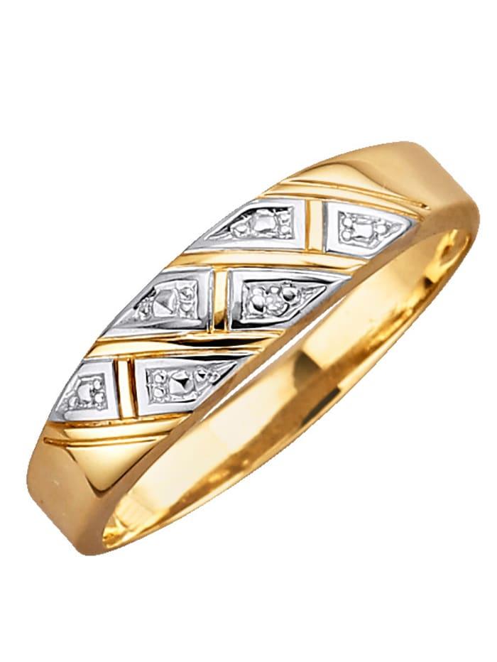 Damesring met diamant KLiNGEL Geelgoudkleur
