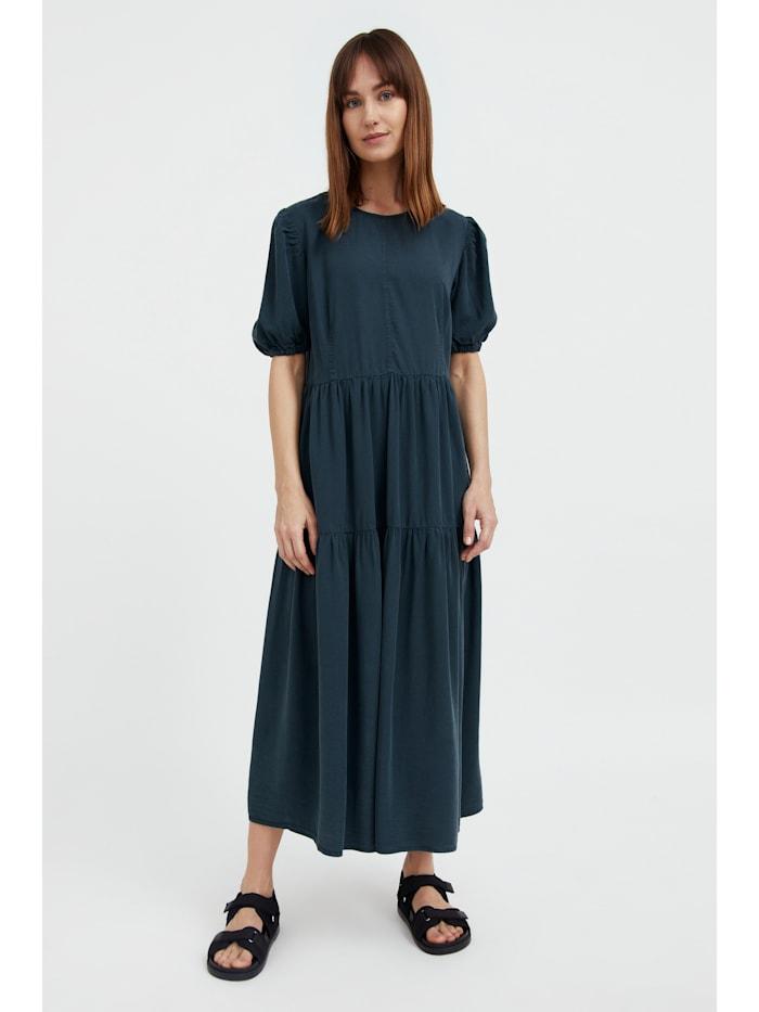 finn flare - Jeanskleid mit ausgestelltem Schnitt  dark green