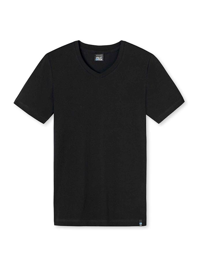 schiesser - Shirt mit V-Ausschnitt  schwarz