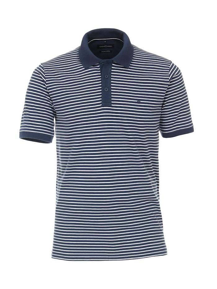 casamoda - Polo-Shirt andere Muster  graues Dunkelblau