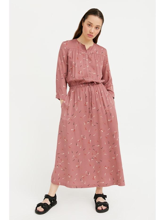 finn flare - Maxi-Kleid mit floralem Muster  dark pink