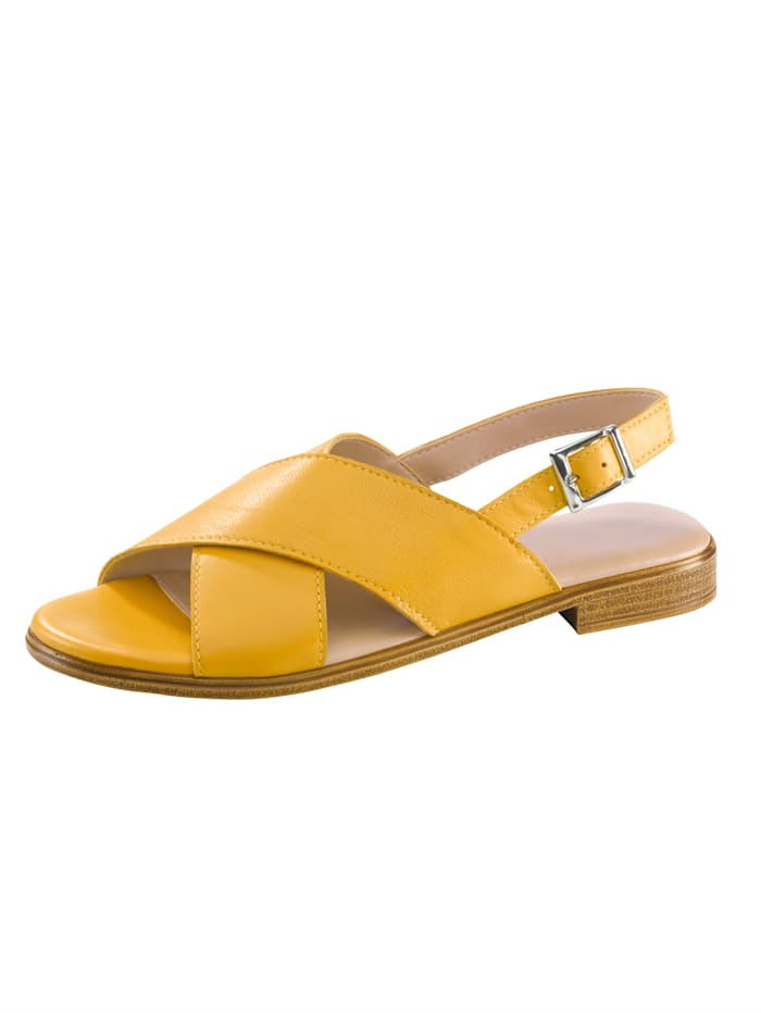Sandaaltje KLiNGEL Mosterdgeel