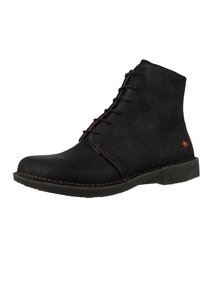 *art - Damen Leder Stiefelette Ankle Boot Bergen Night Schwarz 1096  Night