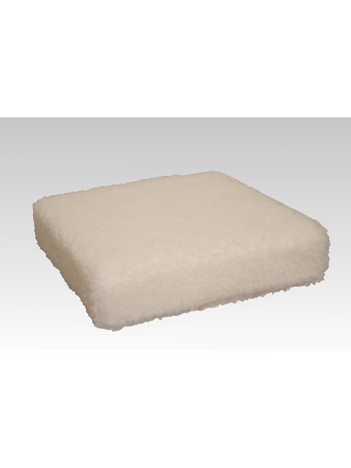 Sitzkissen Sitzerhöhung Aufstehhilfe Auto Wolle ecru 40/40/10 cm Linke Licardo ecru