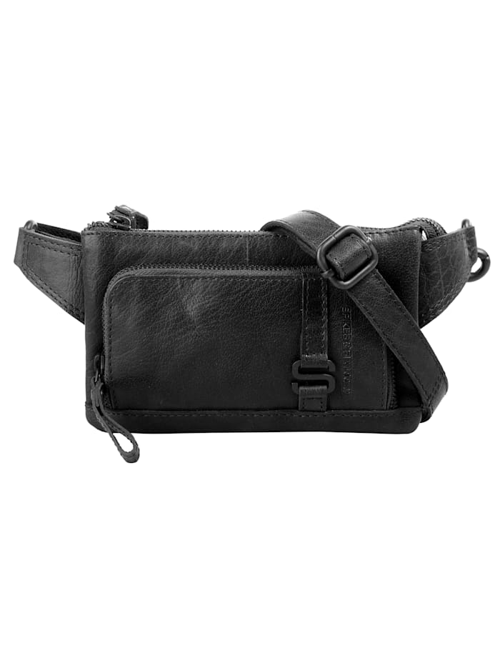 spikes & sparrow - Gürteltasche WAIST BAG  schwarz