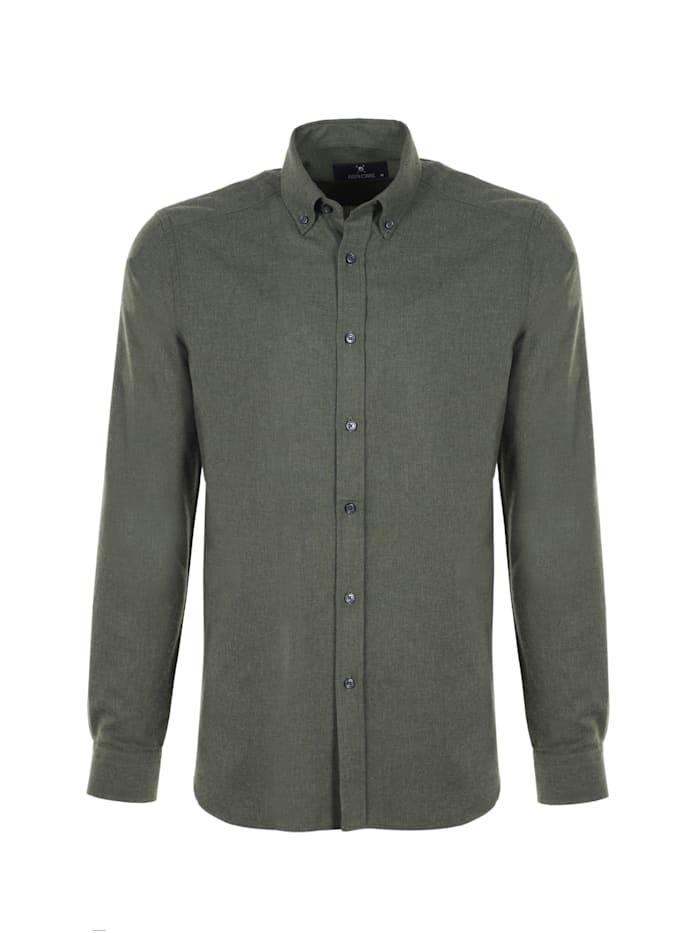 auden cavill - Hemd Ald mit unifarbenen Stoff  Dunkelgrün